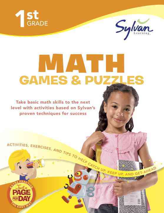 1st Grade Math Games & Puzzles By Sylvan Learning (COR)
